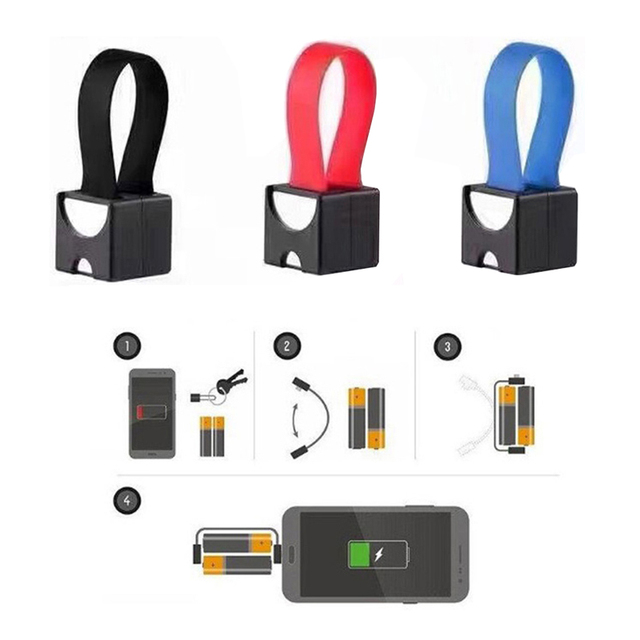 TCAM Tragbare Magnetische AA/AAA Batterie Micro USB Notfall Ladegerät für Android Handy