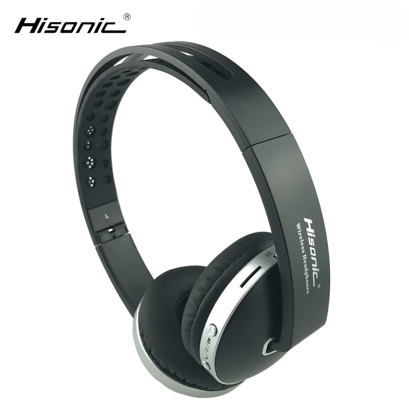 Hisonic Bluetooth Headset Wireless Headphones Stereo foldable Sport Earphone Microphone Gaming Cordless Auriculares Audifonos hestia ex 01 bluetooth earphone car headphones with microphone auriculares wireless stereo headset audifonos for iphone 6 7 sony