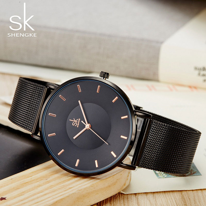 SHENGKE Stainless Wrist Watch 2018 Fashion Women Watches Luxury Ladies Quartz Watch Female Clock Montre Femme Relogio Feminino цена