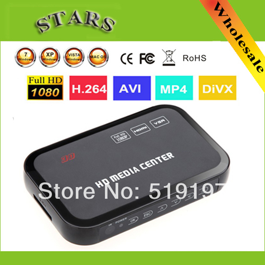 1080P full HD media video player Center with HDMI VGA AV USB SD/MMC Port Remote Control YPbPr Cable Support U-Disk USB hard disk1080P full HD media video player Center with HDMI VGA AV USB SD/MMC Port Remote Control YPbPr Cable Support U-Disk USB hard disk