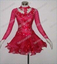 New Arrival,Free shipping, Latin dance wear,tango salsa samba rumba chacha waltz dance suit,girl latin dance dress L-0045