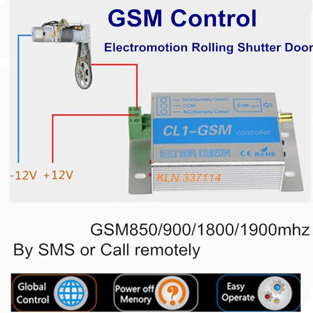 GSM Relay Gate Opener Switch controller by sms or call for home