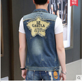 Hot!!!2016 age season cowboy vest male students sleeveless thin shawl vest coat of cultivate teenagers big yards of summer