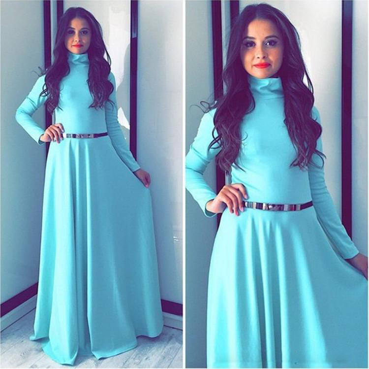Middle East Arabic style Mopping the floor length fashion full dress spring and autumn Muslim women' full sleeve dress