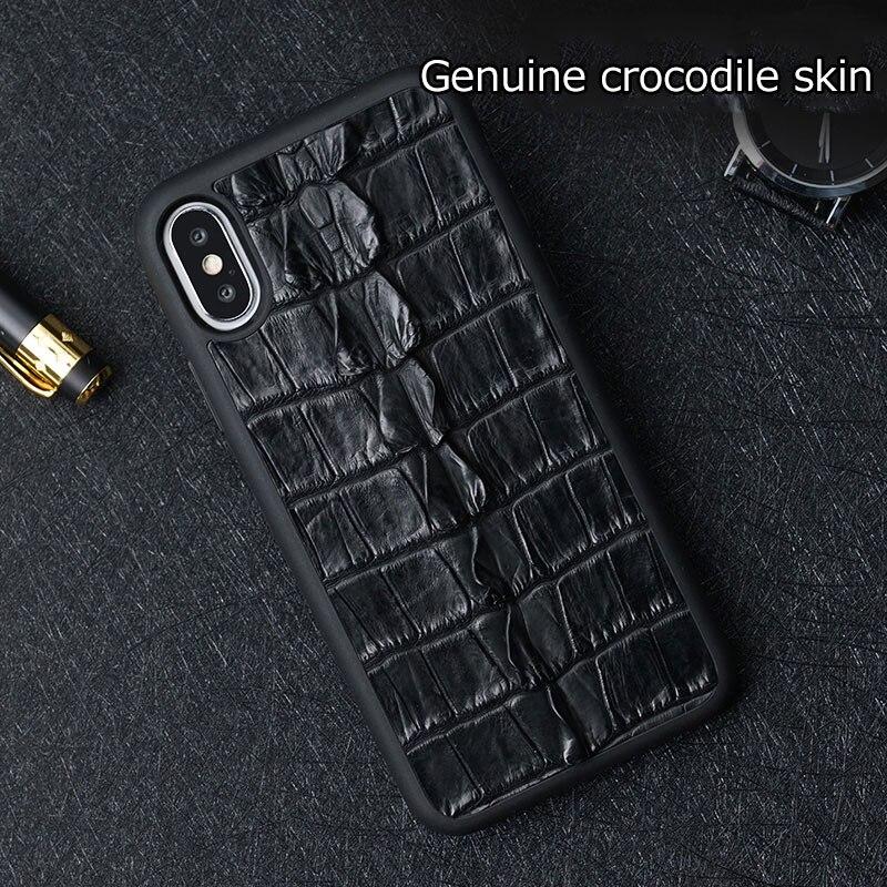Натуральный Крокодил из натуральной кожи для huawei p20 lite чехол высококачественный кожаный чехол для huawei p20 pro Чехол - 3