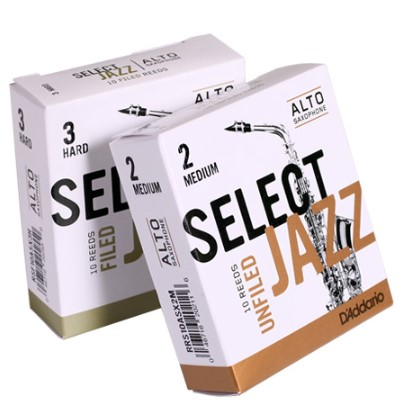 Rico By D'addario Select Jazz Alto Sax Reeds In 2-3 Soft, Medium, Hard, 1/Piece Or 10/Pieces Pack Available