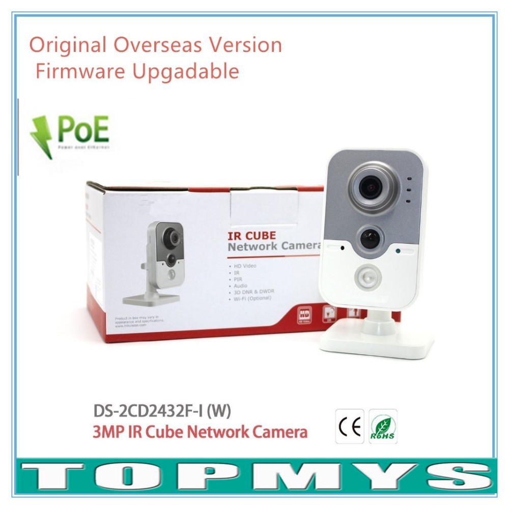 Overseas Version WIFI Camera DS 2CD2432F IW Full HD 1080P 3MP Wireless Camera Built in microphone