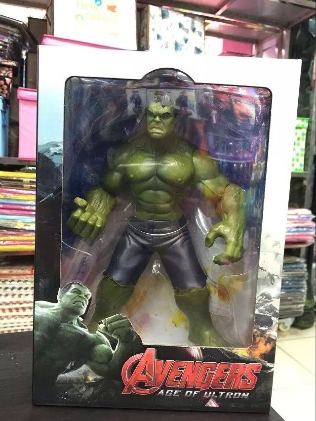 Avengers Age of Ultron Hulk PVC Action Figure Collectible Model Toy 9 23cm KT1752 avengers movie hulk pvc action figures collectible toy 1230cm retail box