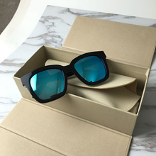 New Fashion Korean Style Women/Men Polarized Sunglasses Retro Acetate Frame Color