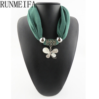 Lucky Four Leaf Jewellery Pendant Infinity Loop Scarf Infinity Fashion Gift For Her Free Shipping