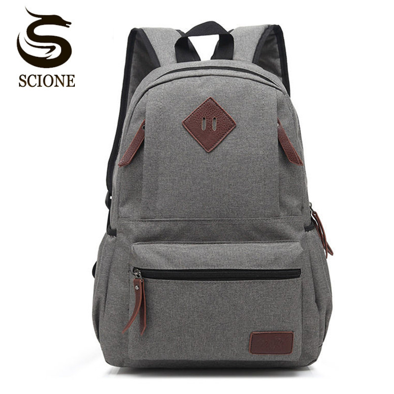Scione Vintage Men Women Canvas Backpack Teenager Girls Boys School Backpack Students Schoolbag Male/Female Laptop Rucksacks Bag цена