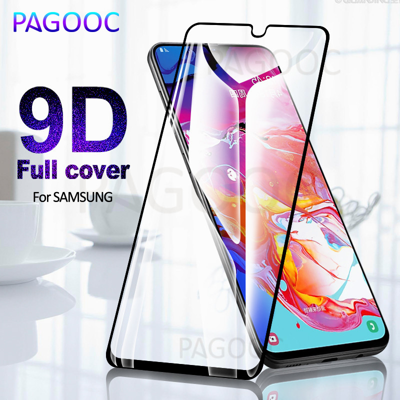 9D Tempered Glass On The For Samsung Galaxy A20 A10 A50 A40 A30 A40s A60 A70 A80 M20 M10 M30 Full Cover Protection Safety Glass