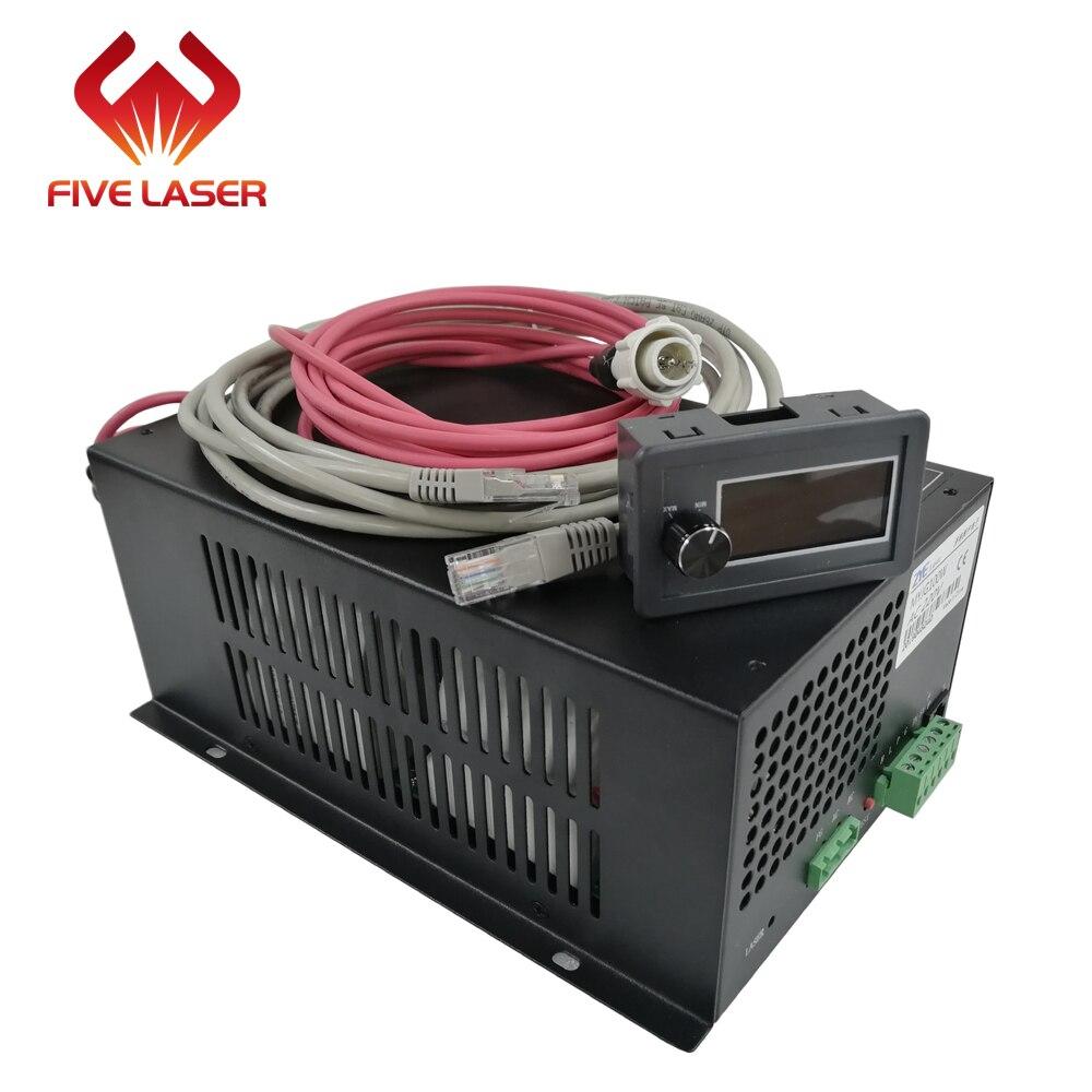 Laser Cutting Machine Used 80w 100w Zhenyu ZYE Laser Power Supply MYJG100W With LCD Display Current Meter