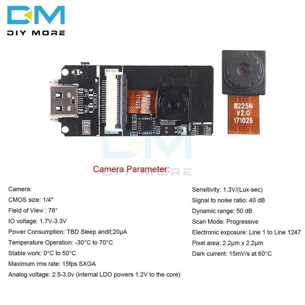ESP32-CAM Module 2MP OV2640 Camera sensor Module Type-C USB Development  Board ESP32 For Arduino WiFi Transceiver Dual Bluetooth