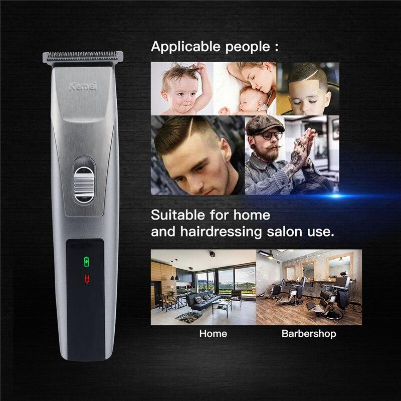 KEMEI Professional Electric Hair Clipper Rechargeable Hair Trimmer Hair Cutting Machine To Haircut Beard Trimer Razor Shaving
