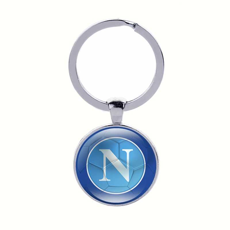 Football Club Keychain Soccer Fans Souvenir Keyring English Italian Team Logo with Football Keychains Sports Men Car Key holder