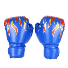 Drop Shipping Customized Logo Kids Boxing Gloves Flame Printed PU Children Training Professional GMT601