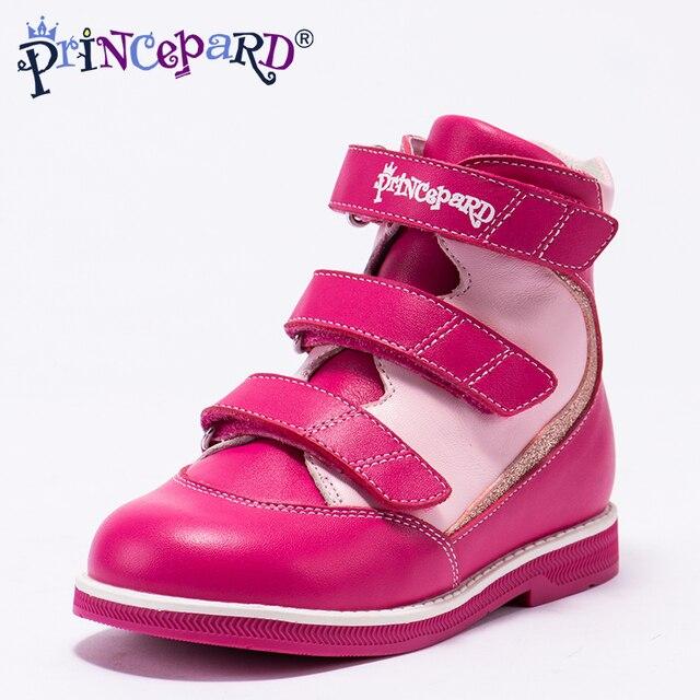 24459a27f Princepard 2018 nuevo otoño verano Zapatos ortopédicos para niñas zapatos de  cuero genuino zapatos de cuero