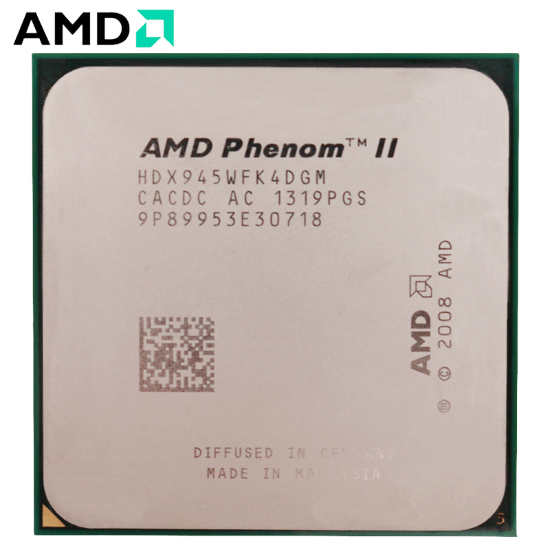 AMD Phenom II X4 945  HDX945WFK4DGM CPU Socket AM3 95W 3.0GHz 938 pin Quad Core Desktop Processor CPU X4 945 socket am3-in CPUs from Computer & Office