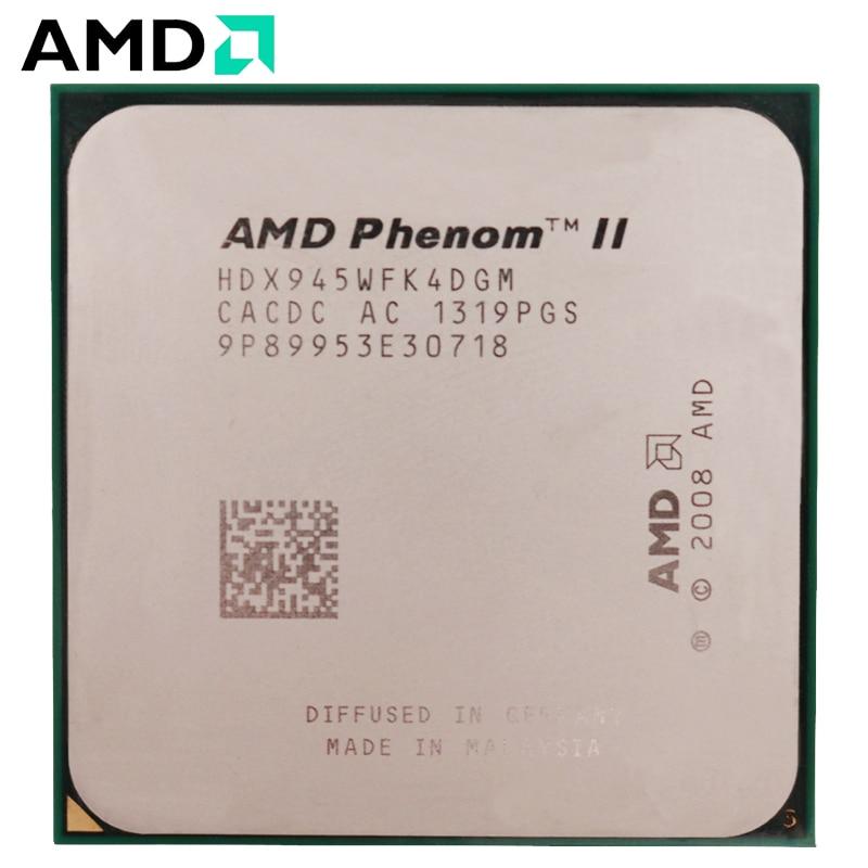 AMD Phenom II X4 945- HDX945WFK4DGM CPU Socket AM3 95W 3.0GHz 938-pin Quad-Core Desktop Processor CPU X4 945 Socket Am3