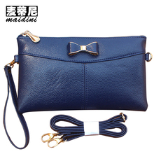 Cute Bow Clutch Bag Female Double Zipper Clutch Coin Purse For Phone Ladies Soft PU Leather Wristlet Bags Girl Day Clutches Bag