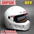 Free shipping,DIY SIMPSON fiberglass full-face helmet motorcycle helmet CRG ATV-1 Star Wars helmets, Helmet + SIMPSON LOGO