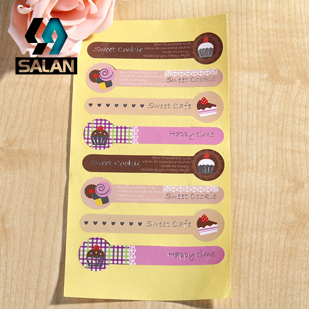 The new 4 colors lovely cake sealed lollipop stick a cookie jar west point stickers 8 D107 Free Shipping