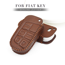 цена на Leather Car Key Cover Case For Fiat Ducato Freemont Egea Uno 500 500x Punto Toro Tipo Panda Qubo Croma Keyring Shell Accessories