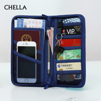 Travel Passport Cover Multifunction Wallet Document Organizer Cover Men Women Business ID Card Holder Case Wrist