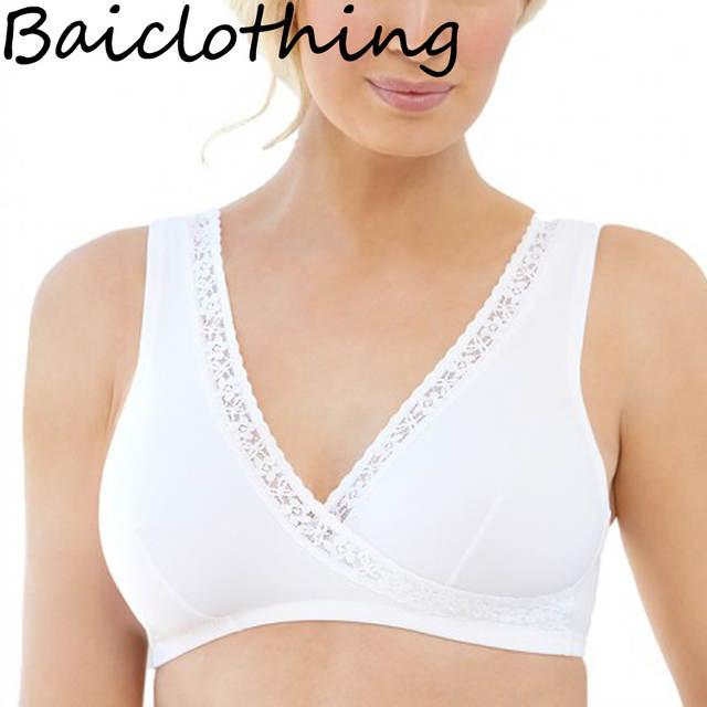 fed40d6e86 placeholder BAICLOTHING Drop Ship Women s Big Size Underwear Soft Cup Sleep  Wireless Bra Lingerie 34 36 38