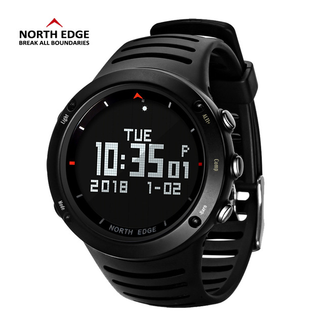 NORTH EDGE Men's sport Digital watch Hours Running Swimming sports watches Altimeter Barometer Compass Thermometer men 3