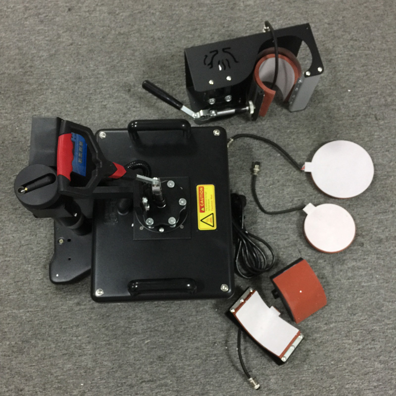 5 in 1 combo heat press machine for trays caps cups