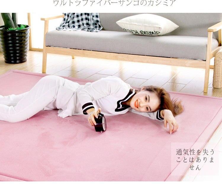 Baby Play Mat Coral Velvet Antiskid Design Crawling Mat  Baby Carpet Mat for Children Game Pad Super Soft Comfortable Playmat  (5)