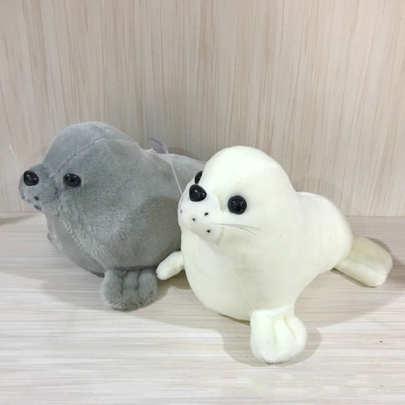 8inch Super Cute Kids Toys Plush Stuffed Doll Toy Animal White Grey Seal Doll for Baby Toy fancytrader seal plush baby doll large stuffed cartoon animal arctic seal toy white bear kids gift pillow 39inches 100cm