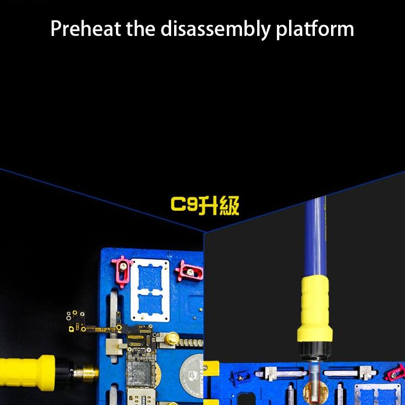 Mecânico C18 Plataforma de Retrabalho Solda Suporte de Aquecimento Elétrico Multifuncional de Alta Temperatura Para o iphone X - 3