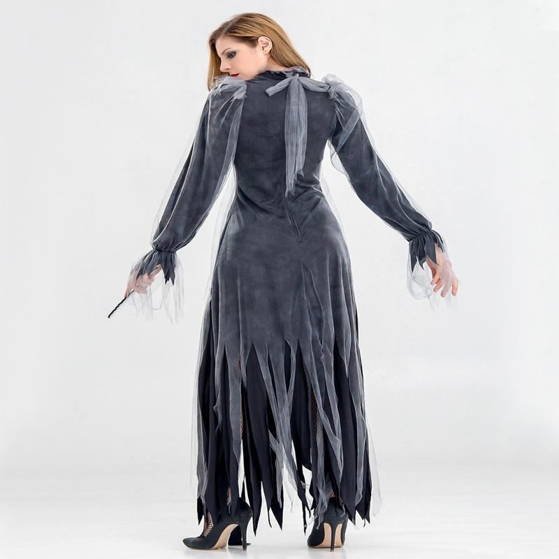 Купить с кэшбэком Free shipping 2018 adult Halloween costumes new horror zombies ghosts bride costume bars party vampire devil costume for women