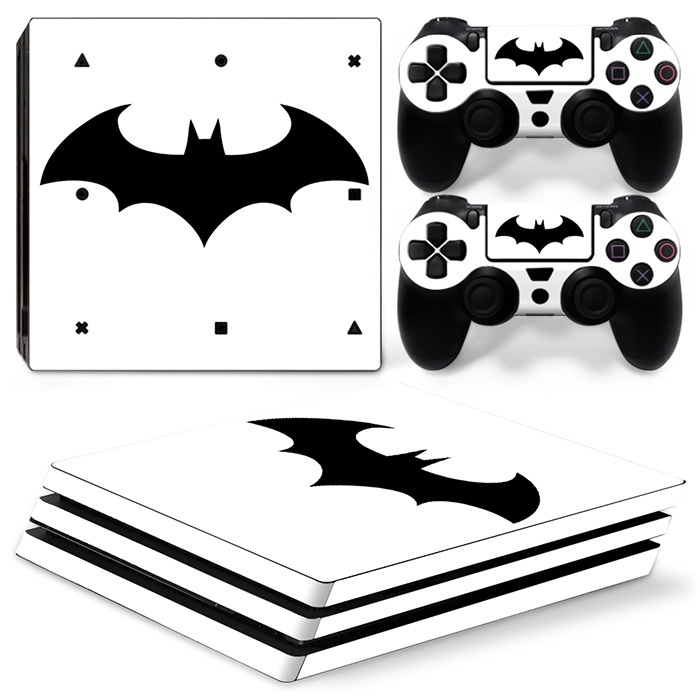 White background bat pattern Style Waterproof Cover Protective Skin Decal VinylSticker Forps4 pro 2Pcs Controller #TN-P4Pro-1411