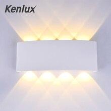 Kenlux 2 Вт 4 Вт 6 Вт 8 Вт светодиодные Настенные светильники алюминий вверх и вниз водонепроницаемый Крытый спальня открытый сад лампа крыльцо свет WW/WH