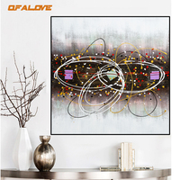 QFALOVE Vintage Knife 3D Oil Painting On Canvas Hand Painted Abstract Oil Painting For Bedroom Retro