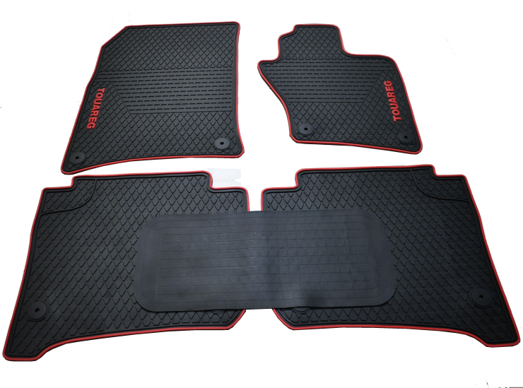 free ship HK UK right hand drive rubber feet pads wear waterproof latex car floor mats Volkswagen Touareg - Xin automitvea Store store
