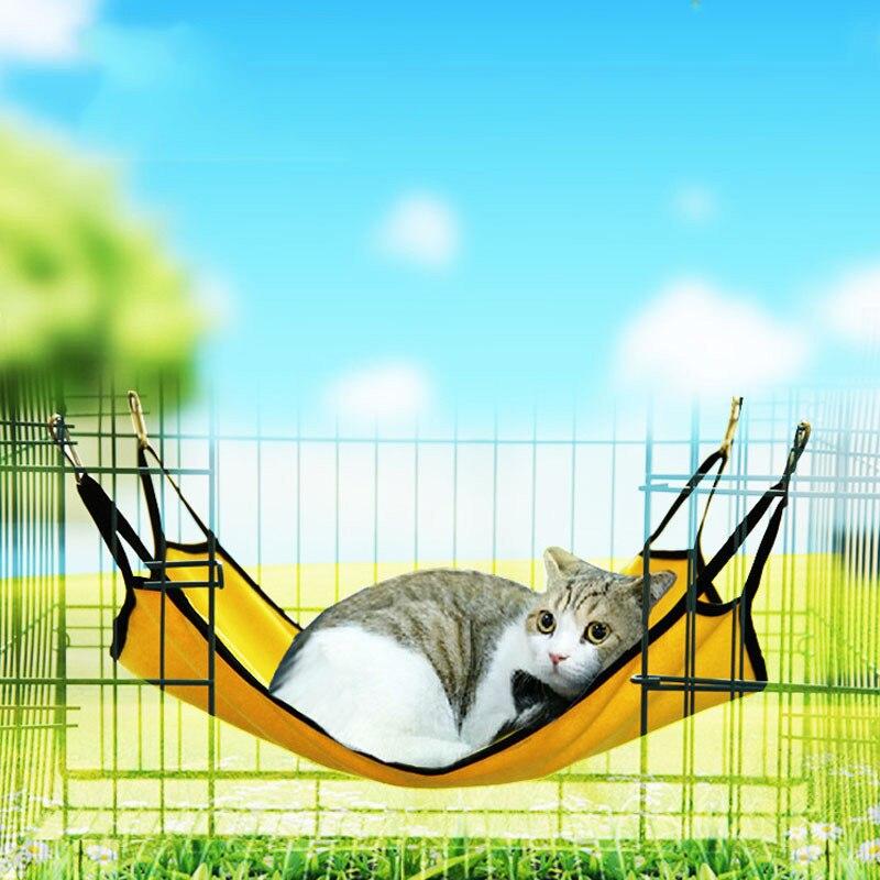 Pet Cat Kitten Animal Hammock Sleep Bed Bunk Sleep Pad Hanging Pet Cage for Summer Winter