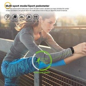 Image 2 - VERYFiTEK F4 Metal Smart Band Wristband Blood Pressure Heart Rate Monitor Men Women Fitness Watch Pedometer Smart Bracelet