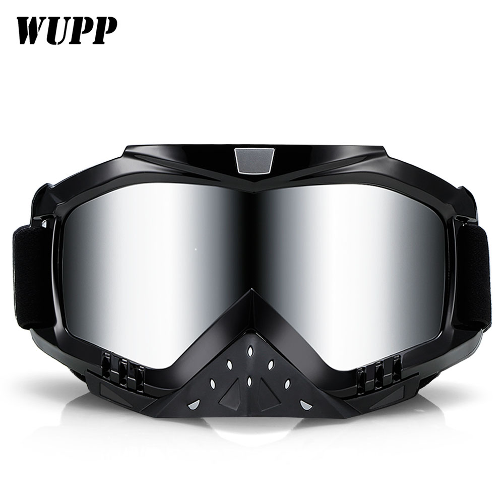 New Motorcycle Glasses Goggles Vintage Motocross Dirt Bike Racing Goggles EyeWear Protective Gear Glasses For Skiing Traveling