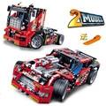 608 unids truck race car 2 en 1 transformable modelo building block sets decool 3360 diy juguetes compatibles
