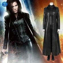 Underworld: Blood Wars traje de Cosplay de lujo para mujer, el vampiro, Guerrero, Selene, disfraz de Halloween, hecho a medida