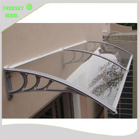 YP100360 A 100x240cm 100x300cm 100x600cm Window Door Use Polycarbonate Awningaluminum Support Polycarbonate Awning