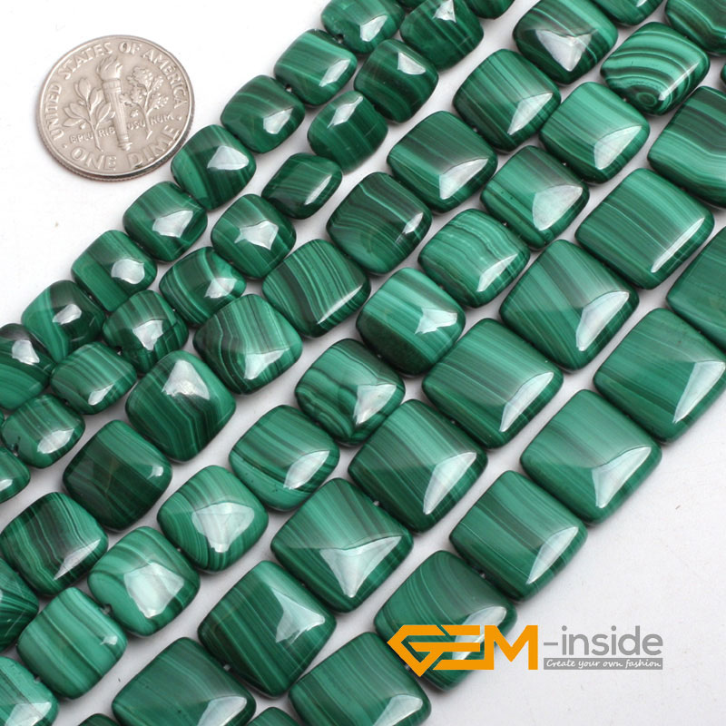 8mm 10mm 12mm square shape malachite stone beads natural stone beads DIY loose beads for jewelry making strand 15