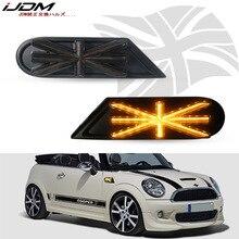 IJDM Автомобильные Боковые габаритные огни Янтарный светодиодный светильник s для MKII MINI Cooper R55 R56 R57 R58 R59 динамический мигающий указатель поворота светодиодный светильник 12 В