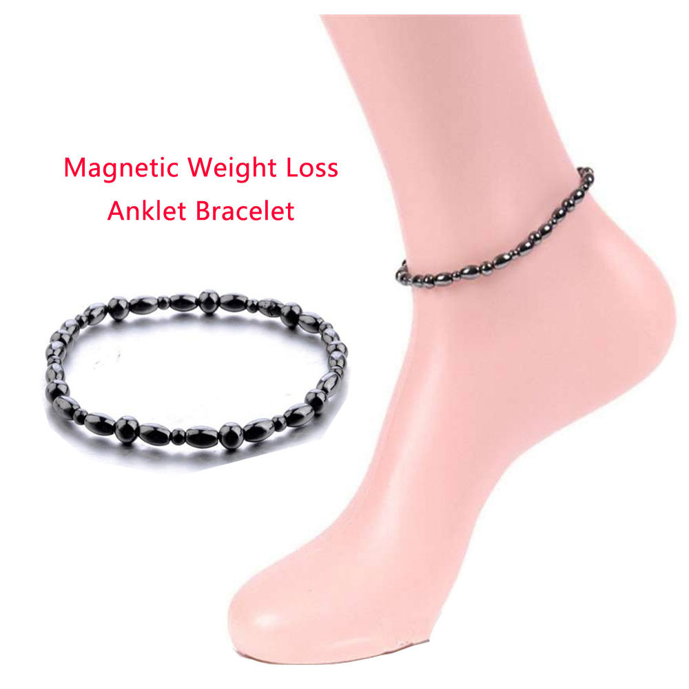Magnetic Weight Loss Effective Anklet Bracelet Black Gallstone Slimming Stimulating Acupoints Therapy Fat Burning Health Care