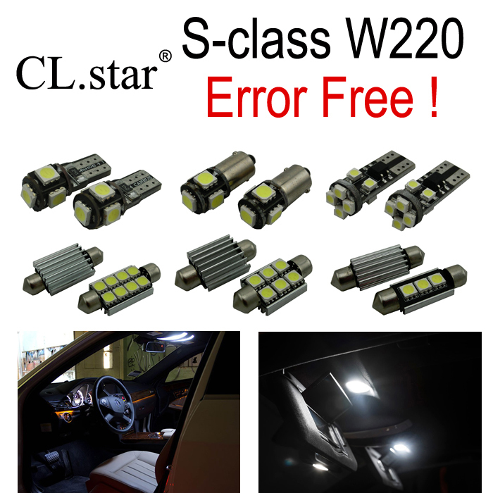24pcs Error Free LED lamp Interior Light Kit For Mercedes For Mercedes-Benz S class W220 S320 S420 S430 S500 S600 S55 AMG 99-05 car accessory steel exhaust cover outputs tail frame trim for mercedes benz s class w222 coupe s class amg auto parts 2010 2017